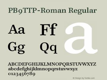PB9TTP-Roman