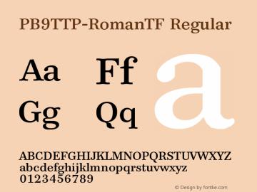 PB9TTP-RomanTF