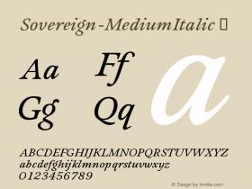 Sovereign-MediumItalic