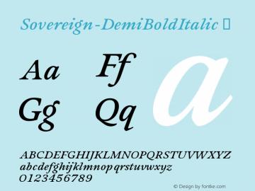 Sovereign-DemiBoldItalic
