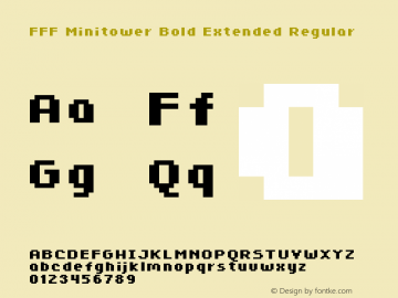 FFF Minitower Bold Extended