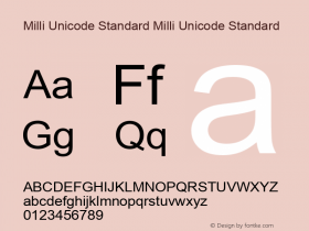 Milli Unicode Standard