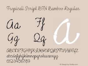 Tropicali Script BTN Bamboo