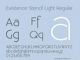 Existence Stencil Light