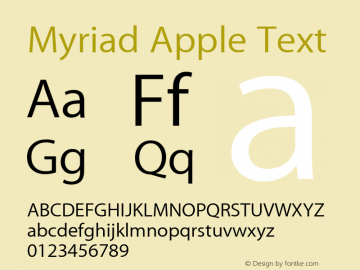 Myriad Apple