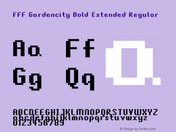 FFF Gardencity Bold Extended