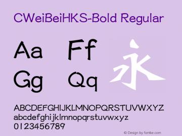 CWeiBeiHKS-Bold