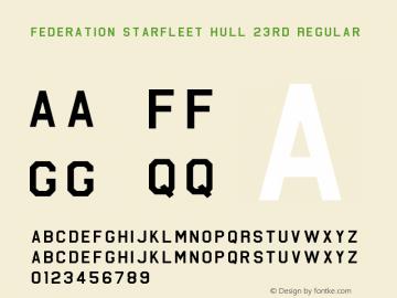 Federation Starfleet Hull 23rd