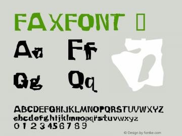 Faxfont