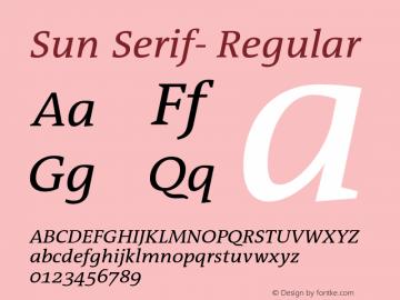 Sun Serif-