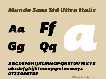 Mundo Sans Std Ultra