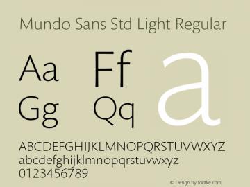 Mundo Sans Std Light