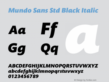 Mundo Sans Std Black