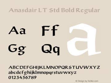 Anasdair LT Std Bold