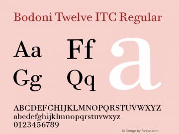 Bodoni Twelve ITC