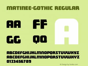 Matinee-Gothic