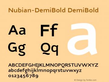 Nubian-DemiBold