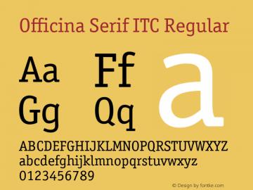 Officina Serif ITC