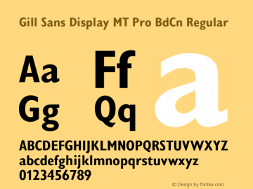 Gill Sans Display MT Pro BdCn