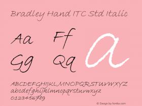 Bradley Hand ITC Std