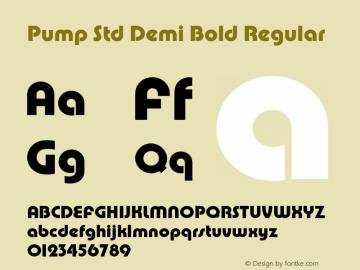 Pump Std Demi Bold