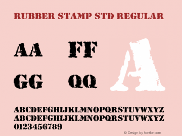Rubber Stamp Std