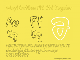 Vinyl Outline ITC Std