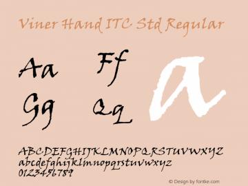 Viner Hand ITC Std