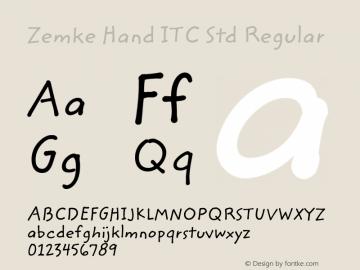 Zemke Hand ITC Std