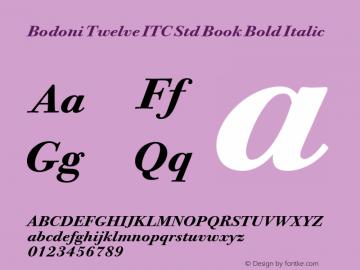 Bodoni Twelve ITC Std Book