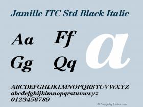 Jamille ITC Std Black