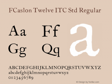 FCaslon Twelve ITC Std