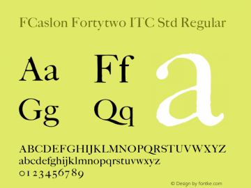 FCaslon Fortytwo ITC Std
