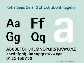 Rotis Sans Serif Std ExtraBold