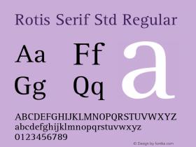 Rotis Serif Std