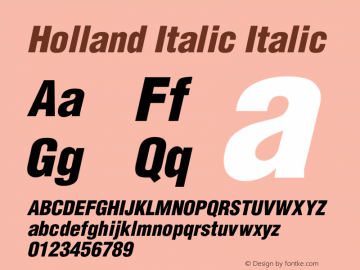 Holland Italic