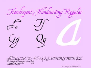Flamboyant Handwriting