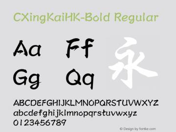 CXingKaiHK-Bold