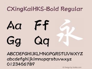 CXingKaiHKS-Bold