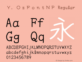 Y.OzFontNP