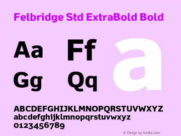Felbridge Std ExtraBold
