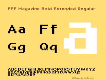 FFF Magazine Bold Extended