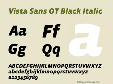 Vista Sans OT Black