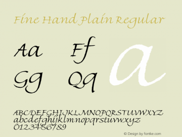 Fine Hand Plain