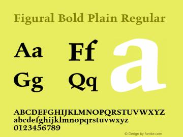 Figural Bold Plain
