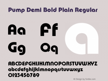 Pump Demi Bold Plain