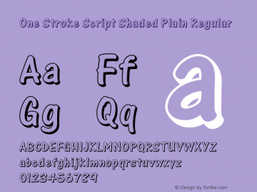 One Stroke Script Shaded Plain