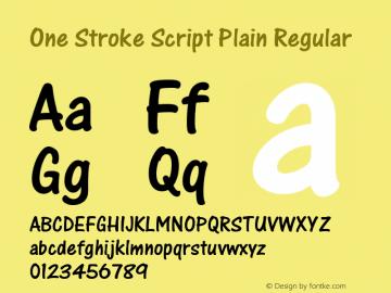 One Stroke Script Plain