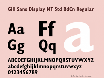 Gill Sans Display MT Std BdCn