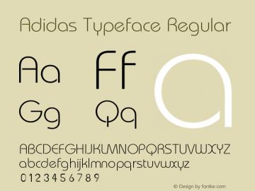 Adidas Typeface